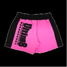 Pink unisex fitness shorts